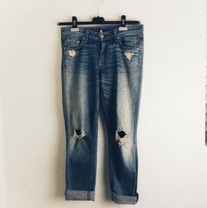 Rag & Bone Distressed Dash Webley Wash Blue Jeans